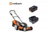 Pachet Redback EA156V+EA20+EC130 Masina de tuns gazon acumulatori 120V, 520mm, 60L, autopropulsie, acumulator 120V/2Ah, incarcator 120V/1A