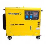 Generator insonorizat Stager YDE7000TD, diesel, monofazat