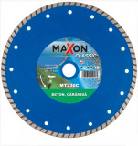 Disc diamantat de taiere continuu, 230x22.2x2.6 mm, taiere uscata, Maxon - MT230C