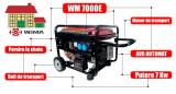 Generator de curent WM 7000E 7 kW pornire la cheie