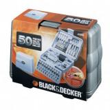 Set 50 accesorii insurubare/gaurire Black+Decker - A6988