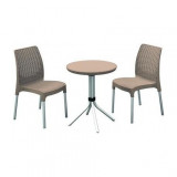 Set mobilier gradina Curver Chelsea cappuccino