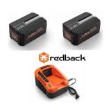 Set Redback powerpack 2 acumulatori Li-Ion 2xEP20 40V/2Ah + incarcator EC20 40V/2A