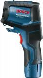Termodetector -40C/+1000C Bosch GIS 1000C , precizie 2% +Acumulator GBA 12V 2.0Ah + Incarcator rapid GAL 12V-40 Professional + L-Boxx 136
