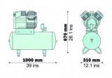 Compresor Fiac medical, tip Airmed 255/50