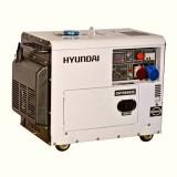 Generator de curent trifazat cu motor diesel HYUNDAI DHY8600SE-T