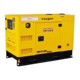 Generator insonorizat diesel monofazat 14kVA, 57A, 1500rpm Stager YDY15S-E