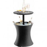 Mini bar gradina Curver Pacific Cool Bar rattan gri