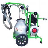 Mulgatoare vaci Gardelina 1 post bidon aluminiu 30L sasi antistatic tanc vacuum
