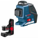 Nivela laser cu linii Bosch GLL 2-80 P + BM 1