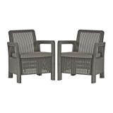 Set 2 scaune gradina graphite Keter Tarifa