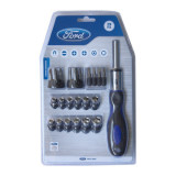 Set surubelnita port biti 29 piese, Ford Tools FHT-C-0051