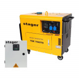 Stager YDE7000TD Generator insonorizat diesel monofazat 4.2kVA, 18A, cu ATS