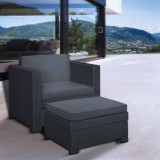 Set mobilier gradina Curver Provence Chillout gri