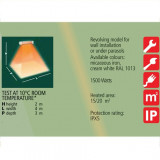 Incalzitor cu lampa infrarosu Varma 1500 w (waterproof) - V110/15P