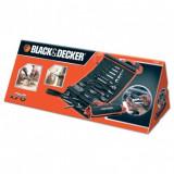 Set 76 accesorii insurubare Black+Decker + unelte de mana - A7063
