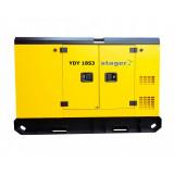 Generator insonorizat Stager YDY18S3, silent 1500rpm, diesel, trifazat
