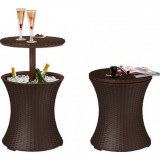 Mini bar gradina Curver Pacific Cool Bar rattan maro