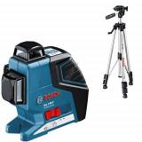 Nivela laser linii Bosch GLL 3-80 P + BS 150