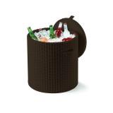 Cutie depozitare rotunda maro Keter Cool Stool