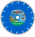 Disc diamantat de taiere segmentat, 230x22.2x2.6 mm, taiere uscata, Maxon - MSZ230C