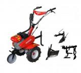 Motocultor Rotakt ROG75, 7 CP, benzina cu accesorii (plug arat reversibil, plug de bilonat, prasitoare)