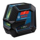 Nivela laser verde cu linii (20 m) + Suport professional Bosch GCL 2-50 G + RM 10