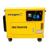 Generator insonorizat Stager YDE7500TD, diesel, monofazat