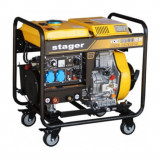 Generator sudare diesel Stager YDE6500EW pornire la cheie