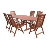 Set Masa cu 6 scaune lemn masiv Hecht Prague