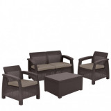 Set mobilier gradina Curver Corfu Box maro