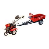 Motocultor Rotakt RO75R, 7 CP + remorca Rotakt REM400