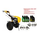 Pachet motocultor Campo 1603, benzina, 16CP, 2+1 trepte, ulei motor si transmisie incluse