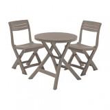Set mobilier gradina Curver Jazz masa cu 2 scaune cappuccino