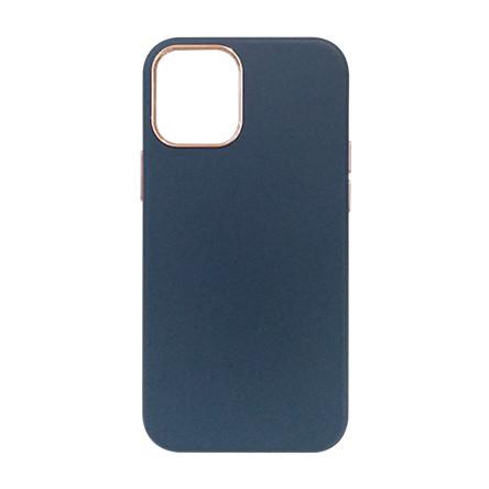 Carcasa iPhone 12 Mini Albastru - Piele PU