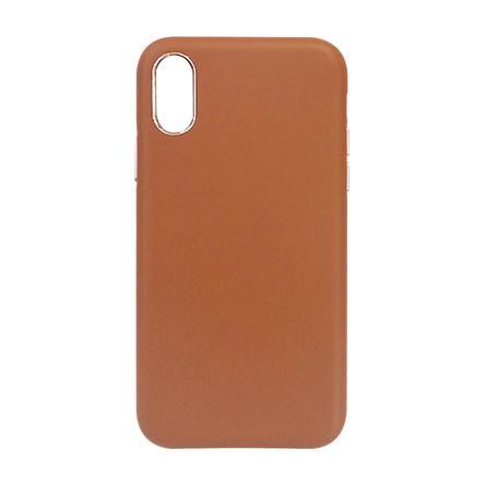Carcasa iPhone XS Crem - Piele PU