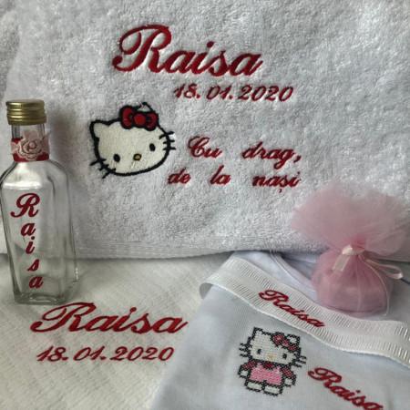 Trusou BOTEZ Hello Kitty personalizat pentru fetita