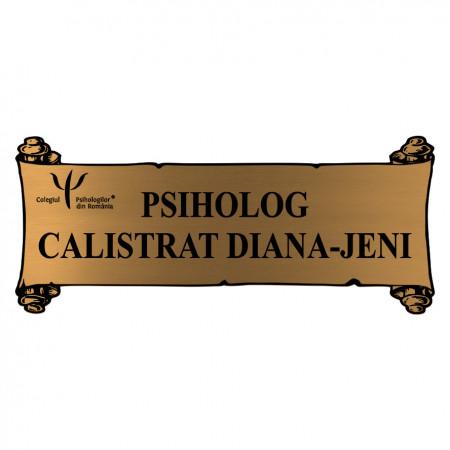 Placheta Aurie Cabinet Psihologic