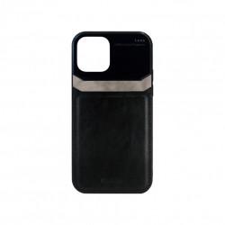 Carcasa iPhone 12 / 12 Pro Negru - Piele PU