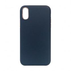 Carcasa iPhone XS Albastru - Piele PU