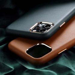 Carcasa iPhone 11 Pro Verde - Piele PU