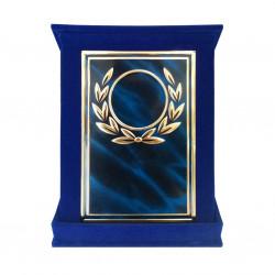 Plachetă Albastra Premiu Personalizată în Cutie de Catifea