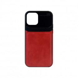 Carcasa iPhone 12 / 12 Pro Rosu - Piele PU