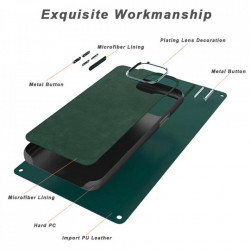 Carcasa Samsung S20 Ultra Verde - Piele PU