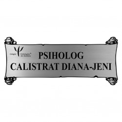 Placheta Argintie Cabinet Psihologic