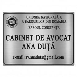 Placheta Cabinet de Avocatura