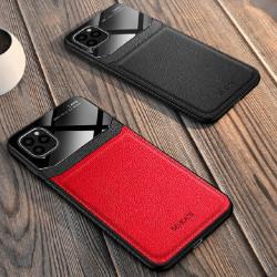 Carcasa iPhone 11 Rosu - Piele PU