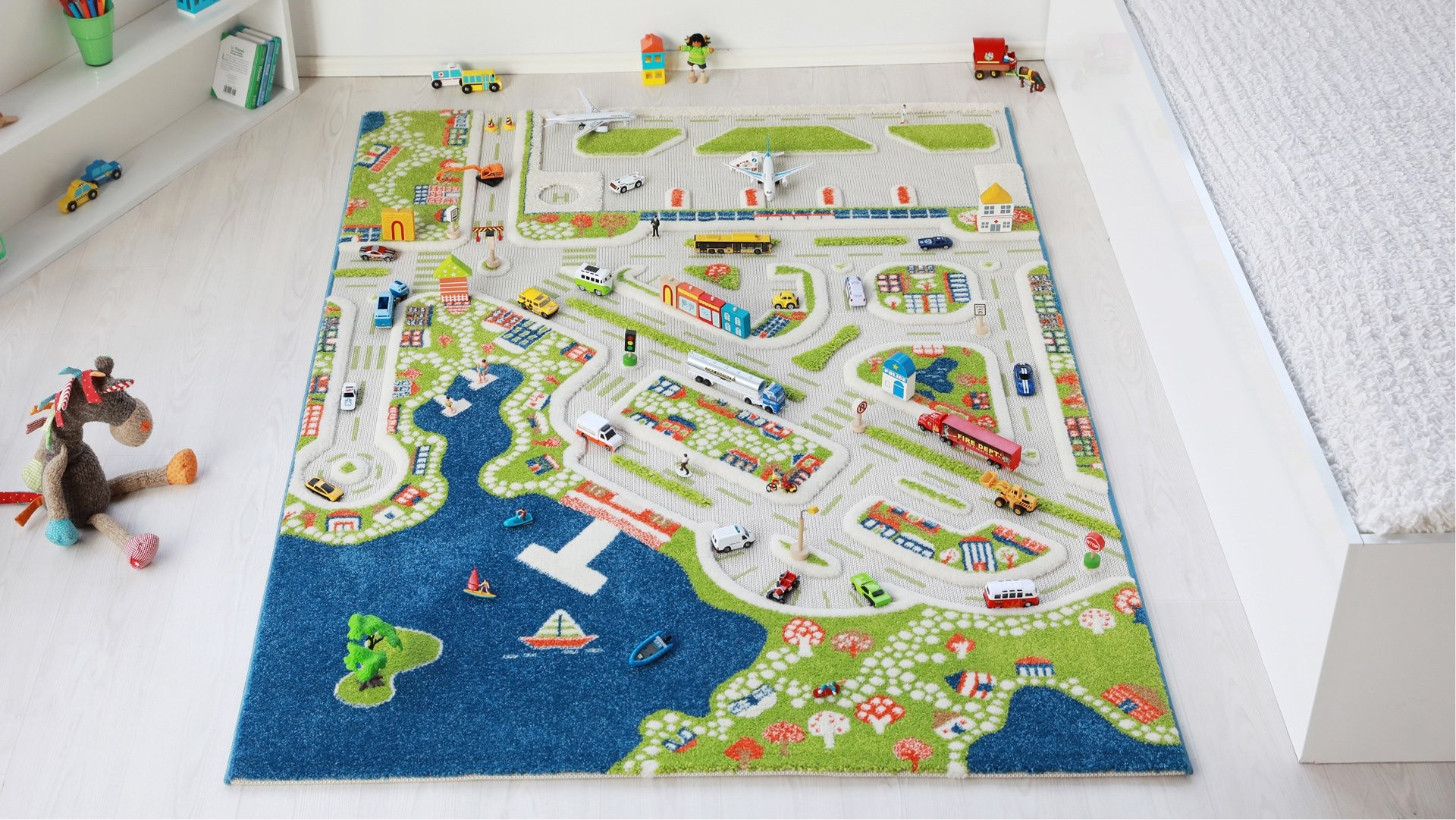 Covor de joaca 3D Orasul la Mare