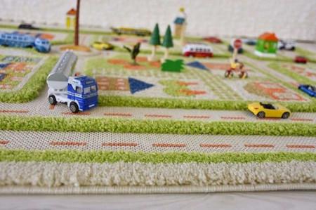 Covor pentru Copii 3D Trafic in Oras Verde 160x230cm