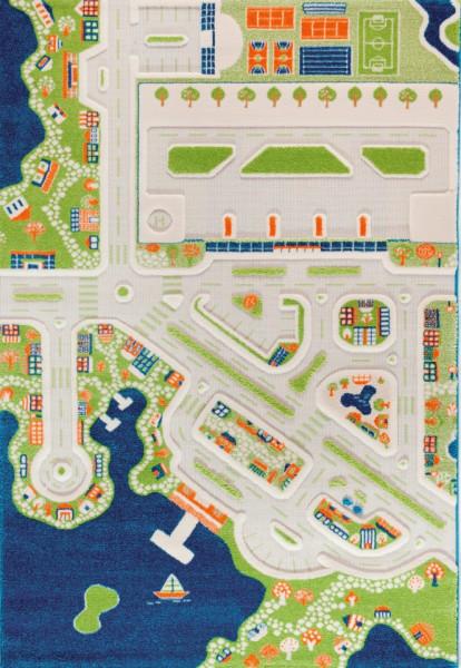 Covor pentru Copii 3D Orasul la Mare 150x220cm